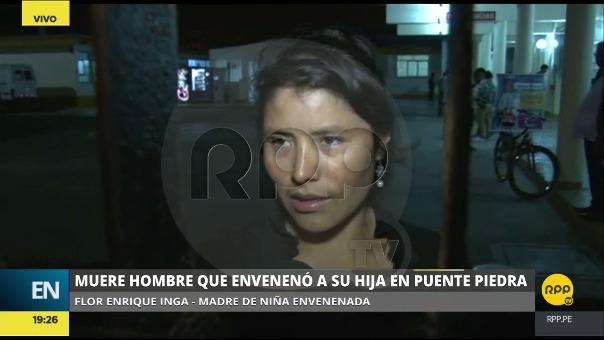 Flor Enrique Inga explicó que el hombre ya había dicho en anteriores ocasiones que quería atentar contra su vida.