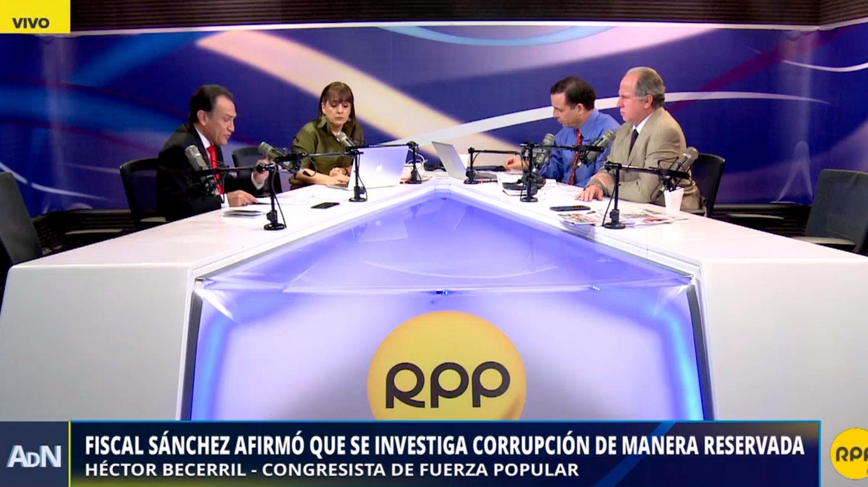 El congresista de Fuerza Popular, Héctor Becerril, fue entrevistado por el panel de Ampliación de Noticias.