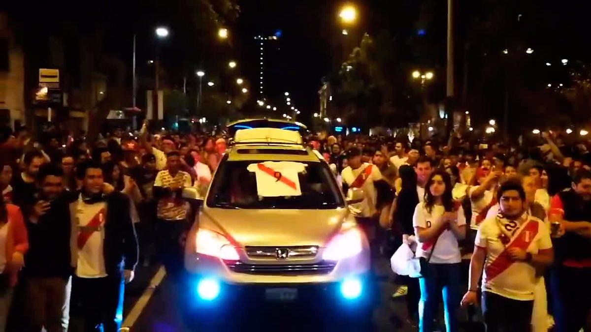 Así fueron las celebraciones en Miraflores.