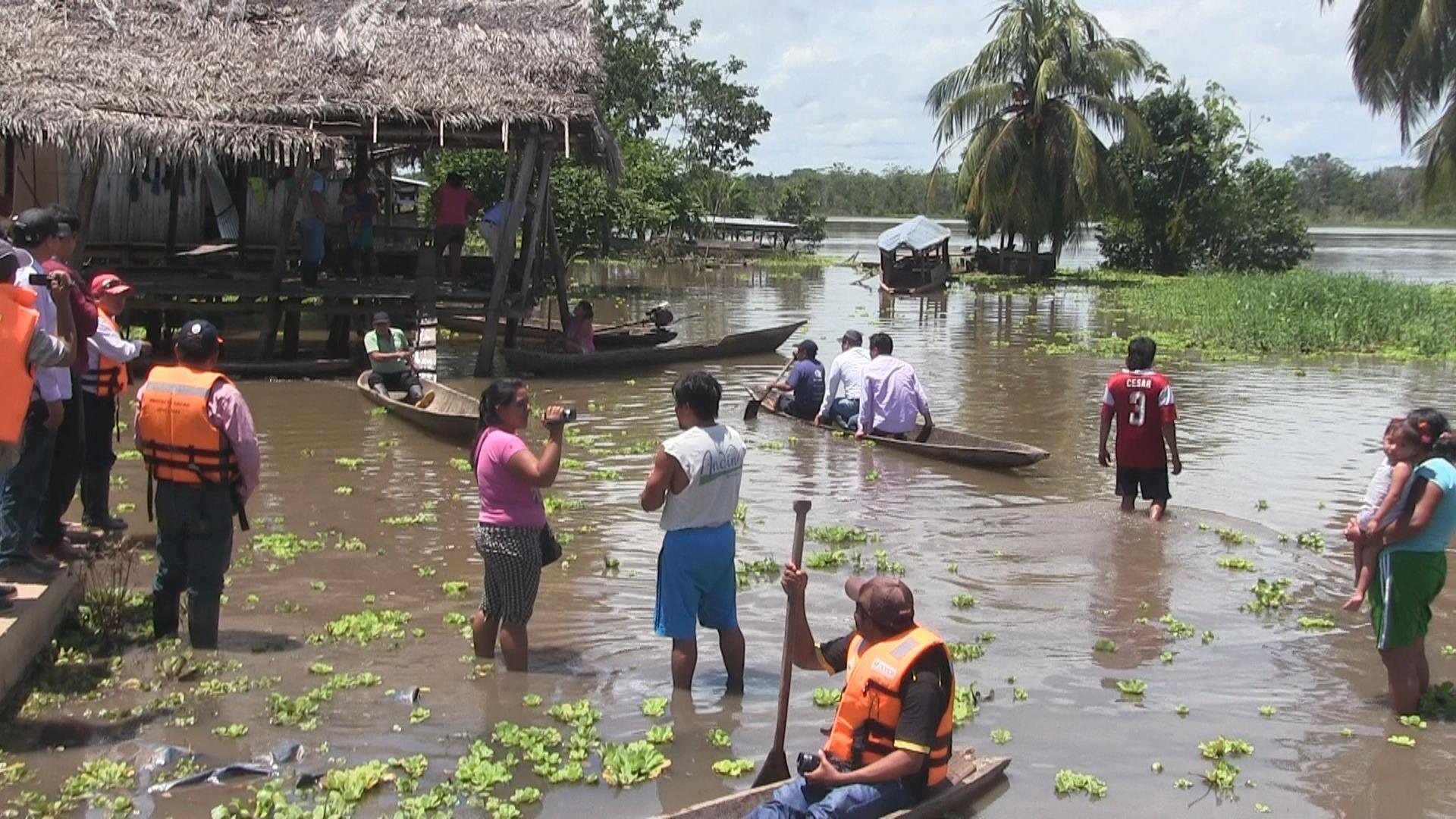 En el valle del Shanusi se reportó la pérdida de 20 hectáreas de cultivos de arroz.
