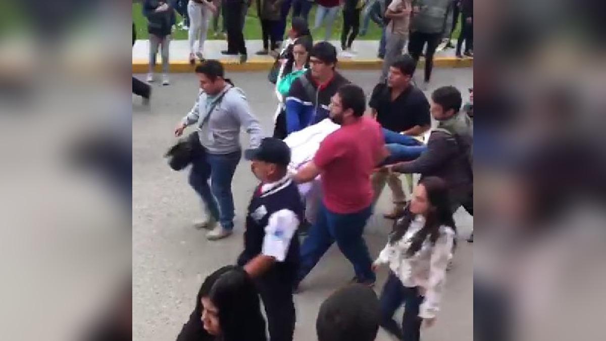 La joven se lanzó desde el edificio K correspondiente al pabellón de Medicina de la UPAO.