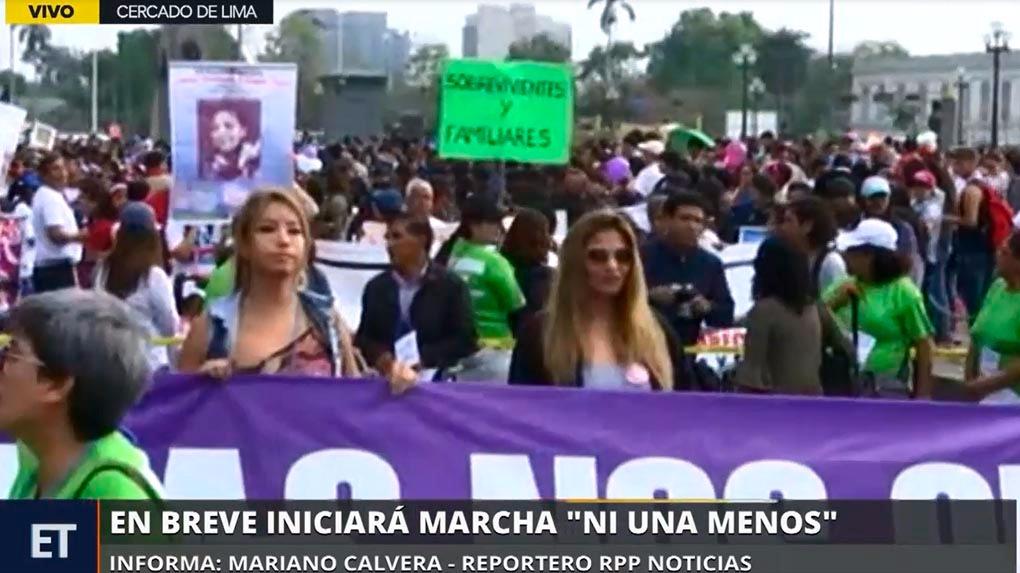 Hoy se realiza la tercera marcha 'Ni Una Menos'.