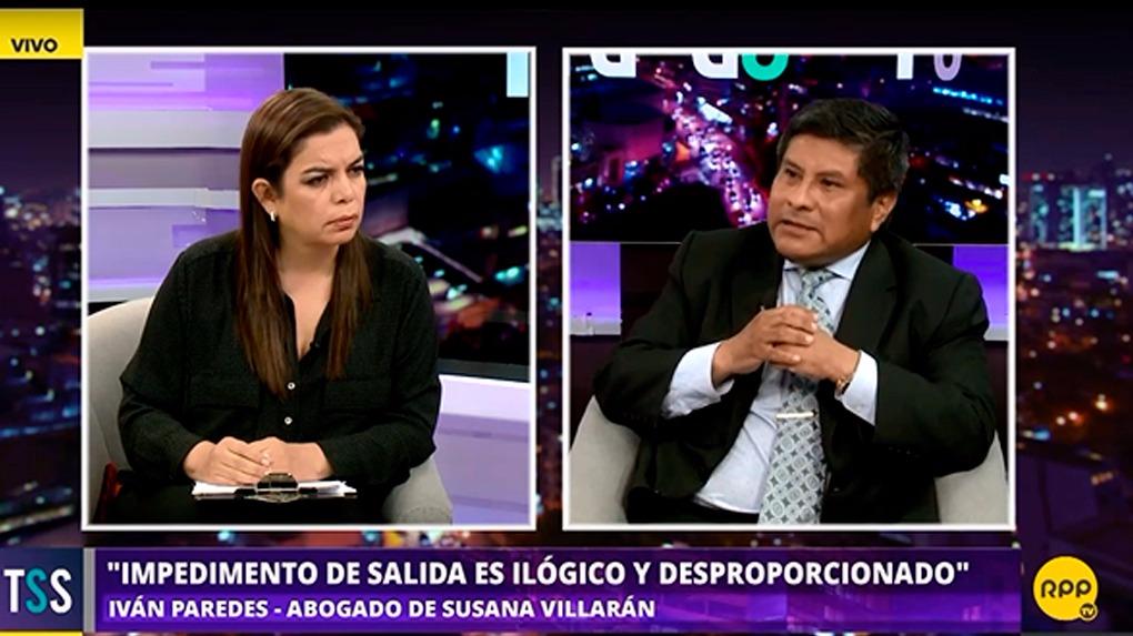 Iván Paredes criticó la medida judicial dictada contra Susana Villarán.