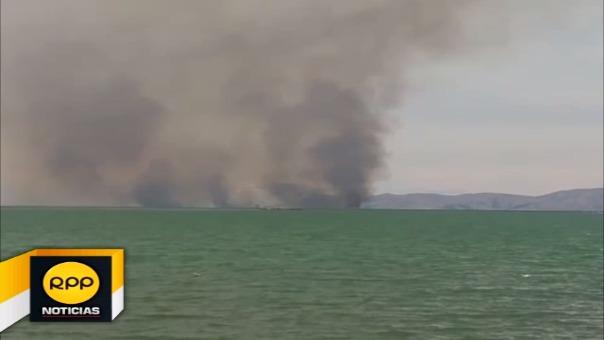 Fuentes internas indicaron que el hecho se inició luego que sujetos inescrupulosos provocaran el incendio.