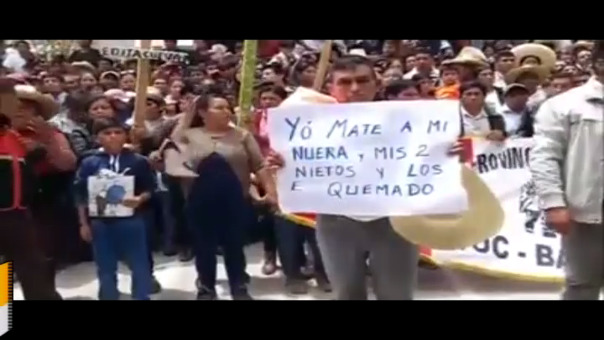 Alejandro Herrera permanece aún en poder de las Rondas Campesinas de Bambamarca, donde pasará cadena ronderil