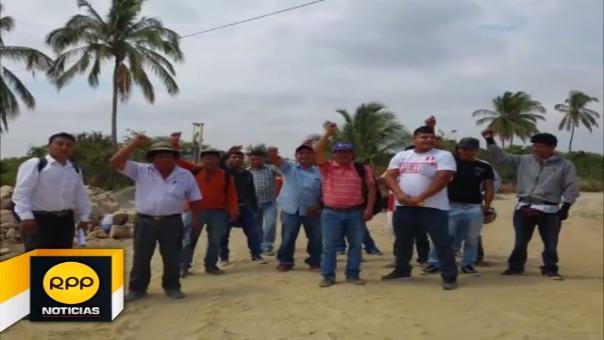 Los moradores también piden trabajo para los obreros de la zona.