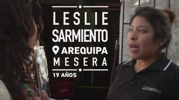 Leslie, que ya tiene su primer trabajo, desconoce que desde su corta edad ya puede ahorrar para su jubilación.
