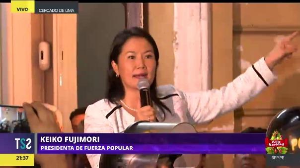 La lideresa de Fuerza Popular envió un mensaje a sus militantes desde su local partidario.