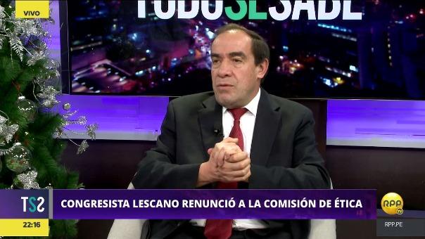 Yonhy Lescano hará efectiva su renuncia a la Comisión de Ética este martes.