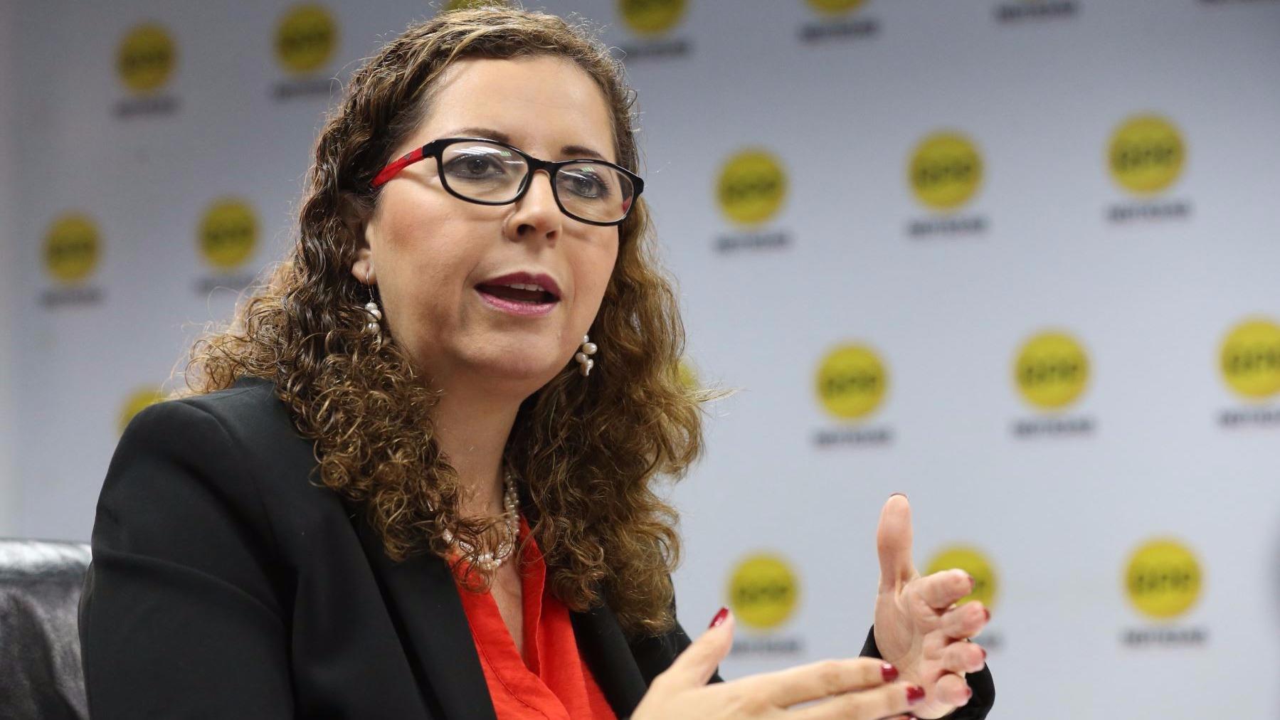 Rosa Bartra, presidenta de la Comisión Lava Jato, en la Rotativa del Aire.