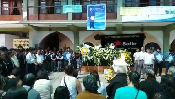 Homenaje a Erik Arenas Sierra en colegio La Salle.