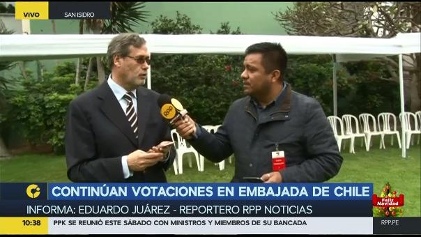 Los chilenos en el Perú también votan. Sus mesas cerrarán a las seis de la tarde.