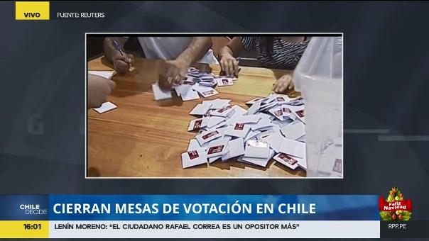 Las mesas de votación ya cerraron en Chile.