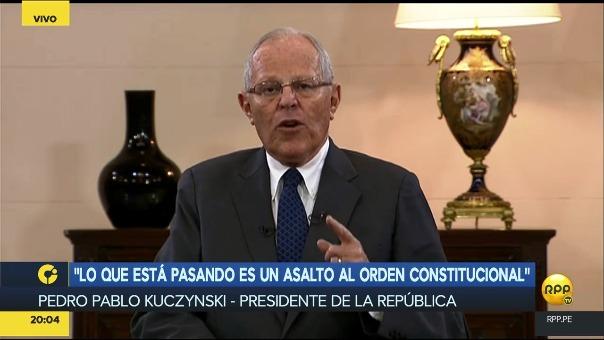 El presidente inició la entrevista pidiendo disculpas al pueblo peruano por no poder haber aclarado de manera oportuna.