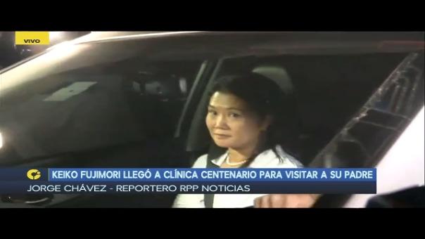 Keiko Fujimori a su llegada a la clínica Centenario.