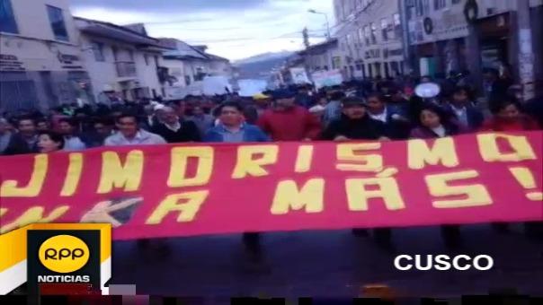 Así se vivió la marcha contra el indulto en la ciudad de Cusco.