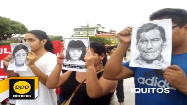 Así se vivió la marcha contra el indulto en la ciudad de Iquitos.