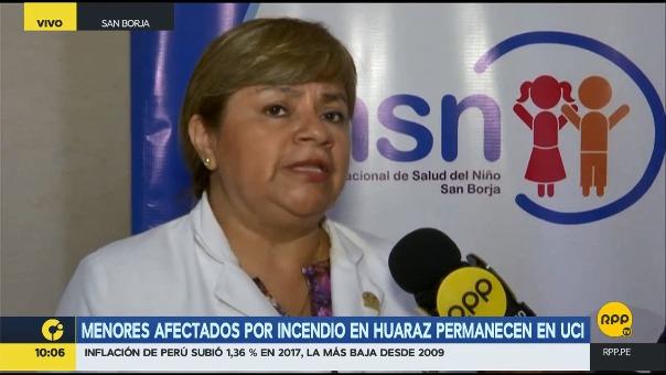 Menores afectados por incendio en Huaraz permanecen en UCI
