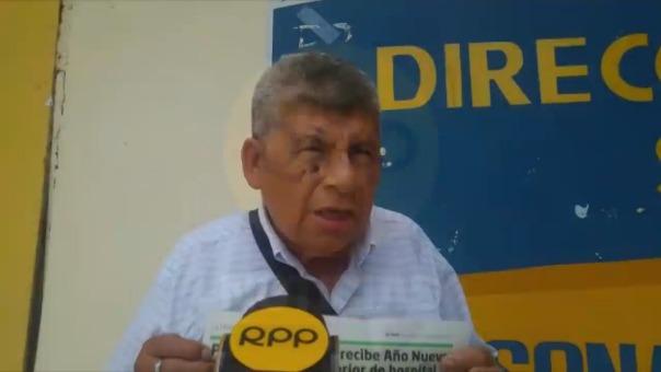Vigilante de turno mañana del hospital de Chulucanas, Manuel Guevara