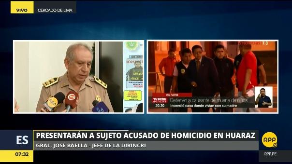 El general Baella dio detalles sobre el crimen y la captura de Anthony Osorio Figueroa.