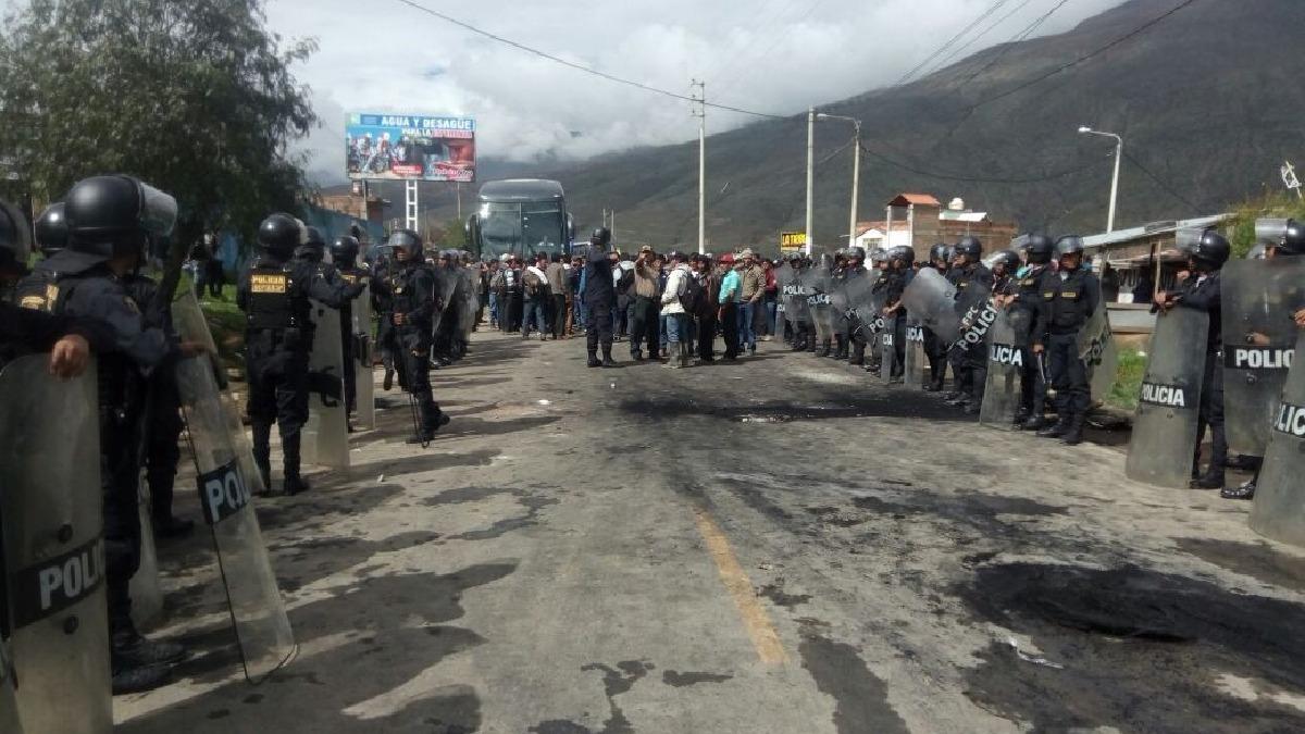 Paro de agricultores en Huánuco.