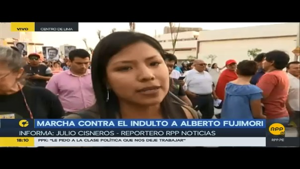 La marcha se desarrolla de manera pacífica por el centro de Lima.