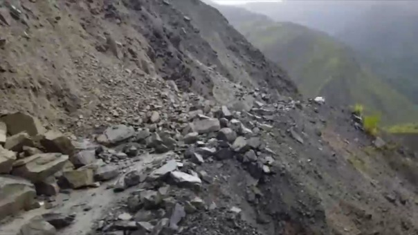 Huaico interrumpió ruta alterna a Machu Picchu.