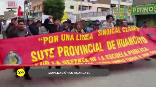 Así se realizó la movilización contra el indulto en Huancayo