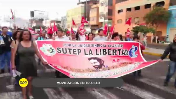Así se realizó la movilización contra el indulto en Trujillo