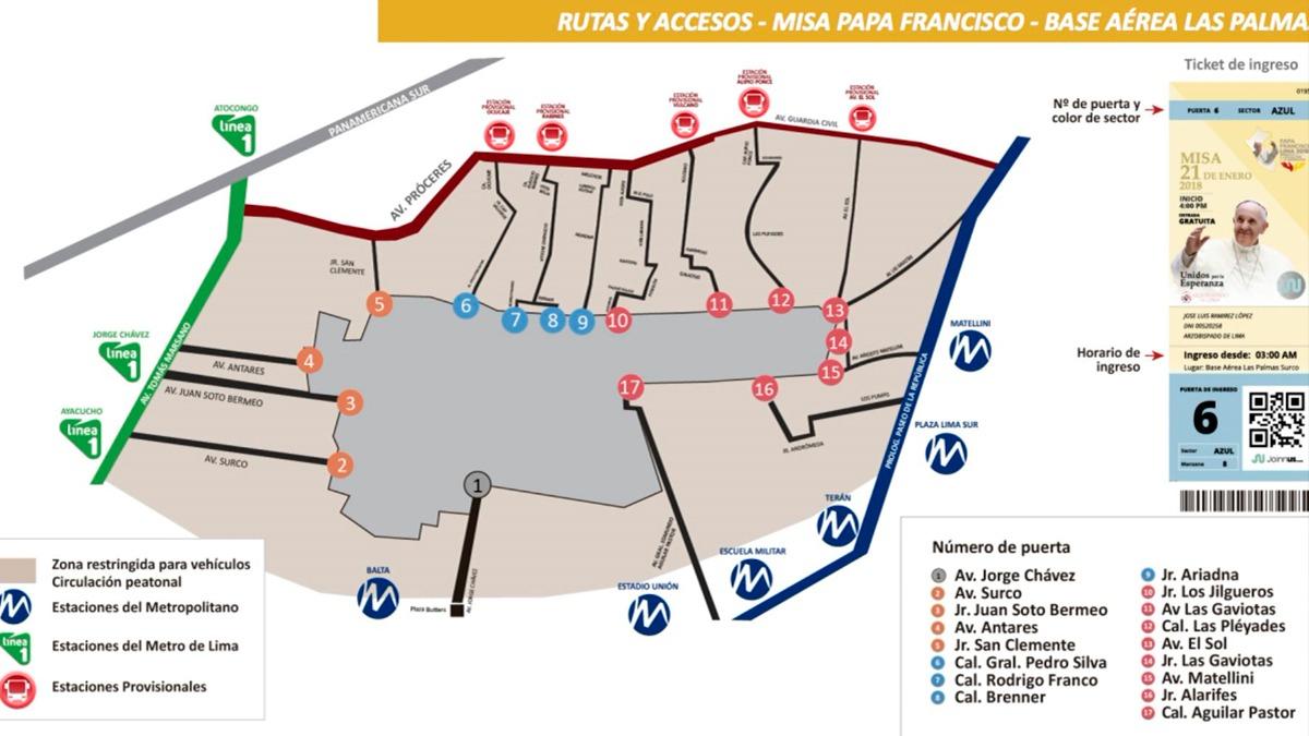 Los ingresos están ubicados en los distritos de Surco y Barranco.