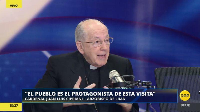 "Juan Luis Cipriani destacó que el papa llega al Perú ""a unirnos""."