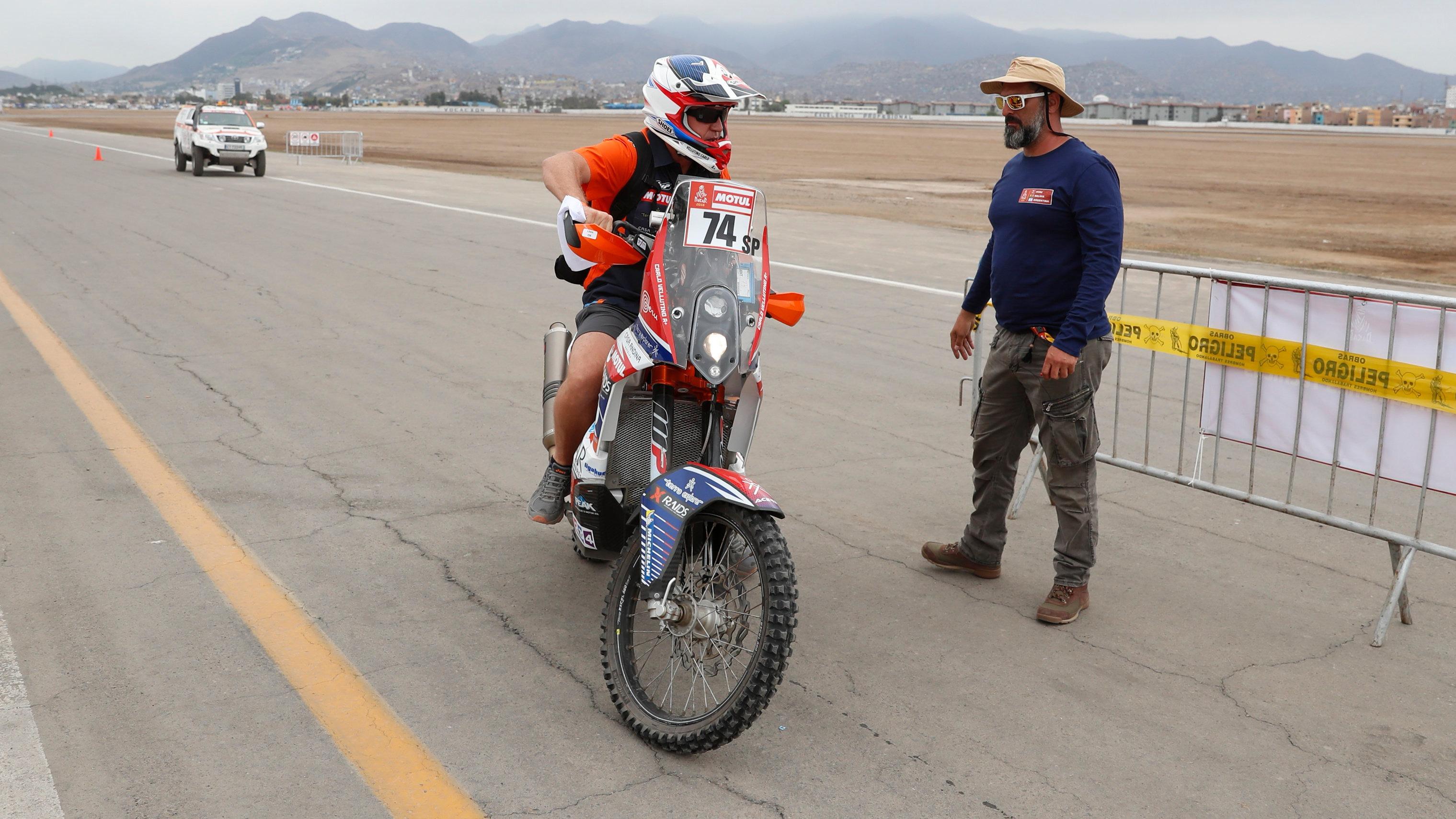 Carlo Vellutino era uno de los seis representantes peruanos en la categoría motos.
