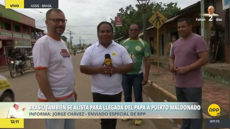 RPP Noticias llegó al distrito brasileño de Asís, a 225 kilómetros de Puerto Maldonado.