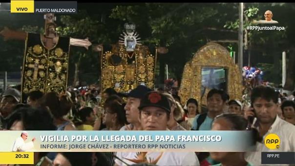 Los fieles trajeron las imágenes de los patrones de cada provincia de Madre de Dios.