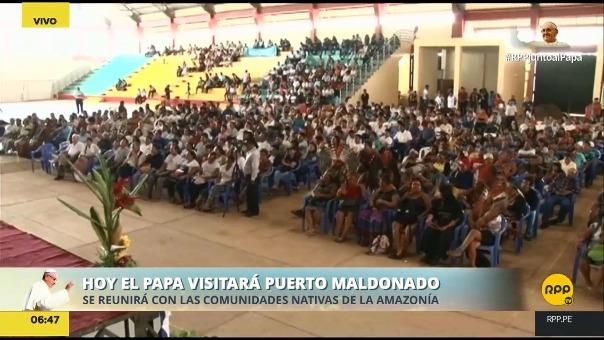 La agenda del Papa en Puerto Maldonado, una de las tres ciudades peruanas en su peregrinaje.
