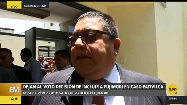 El abogado de Fujimori insistió en su versión de que el plazo de 24 meses requerido para el derecho de gracia se debe contar desde el 2012