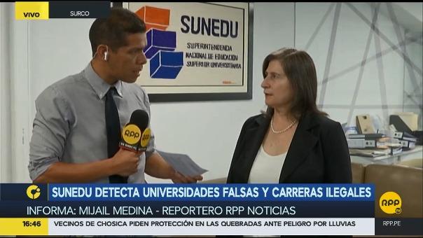 RPP Noticias conversó sobre el caso con la jefa de la Sunedu, Lorena Masías.