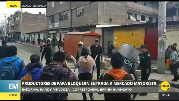 Situación del paro en Huancayo.
