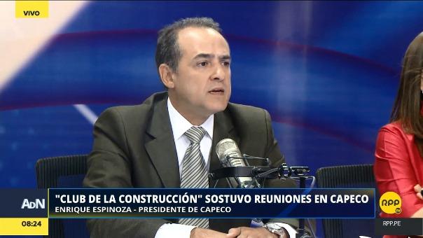 Enrique Espinoza, presidente de Capeco.