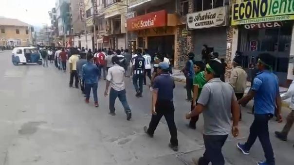 Manifestación de los productores de papa en Huánuco.