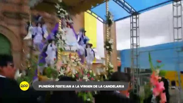 Con una misa en el atrio de la Catedral de Puno se celebró el día central de la Virgen de la Candelaria.