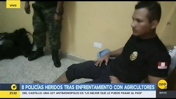 Tres policías heridos han sido trasladados a Sanidad del Ejército.