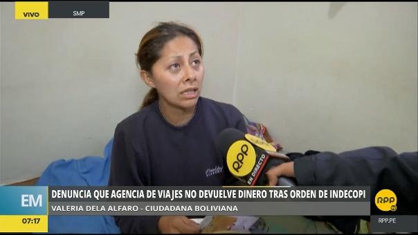 Ciudadana debió viajar a la India en abril del año pasado pero hasta el momento se encuentra en Perú porque la agencia de viajes no quiere hacerse responsable.