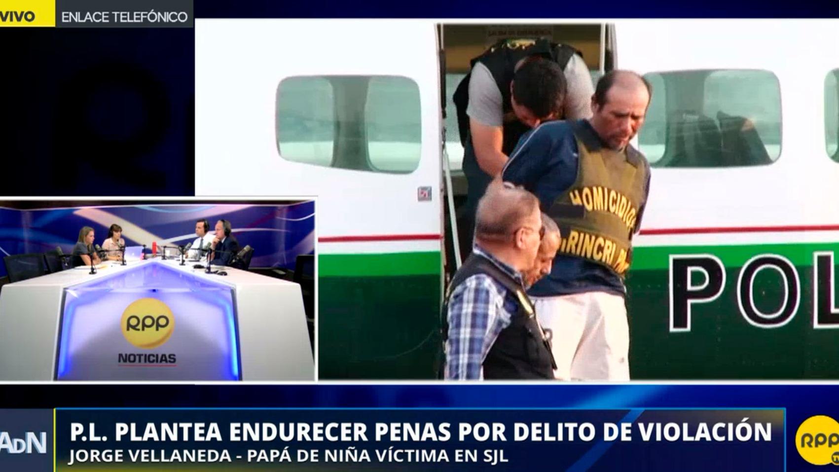 Jorge Vellaneda es el padre de la niña que fue secuestrada, violada y asesinada en San Juan de Lurigancho.