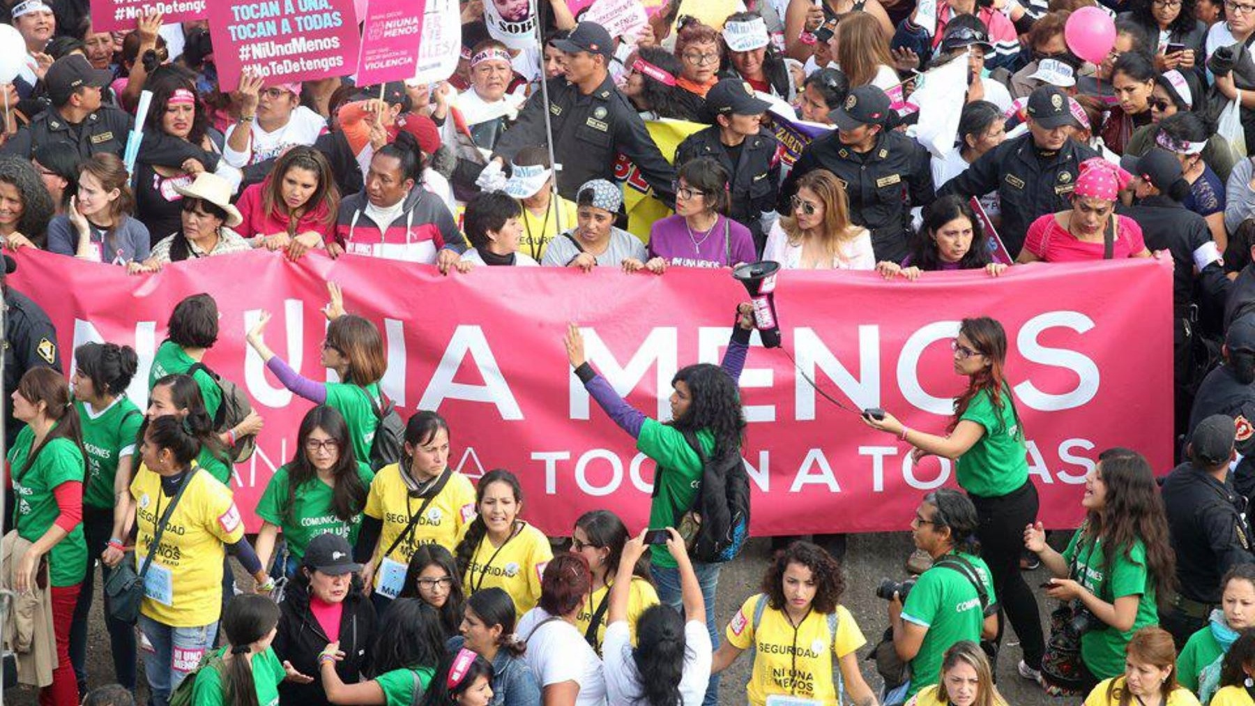 Una marcha realizada en agosto de 2016 contra la violencia hacia las mujeres.