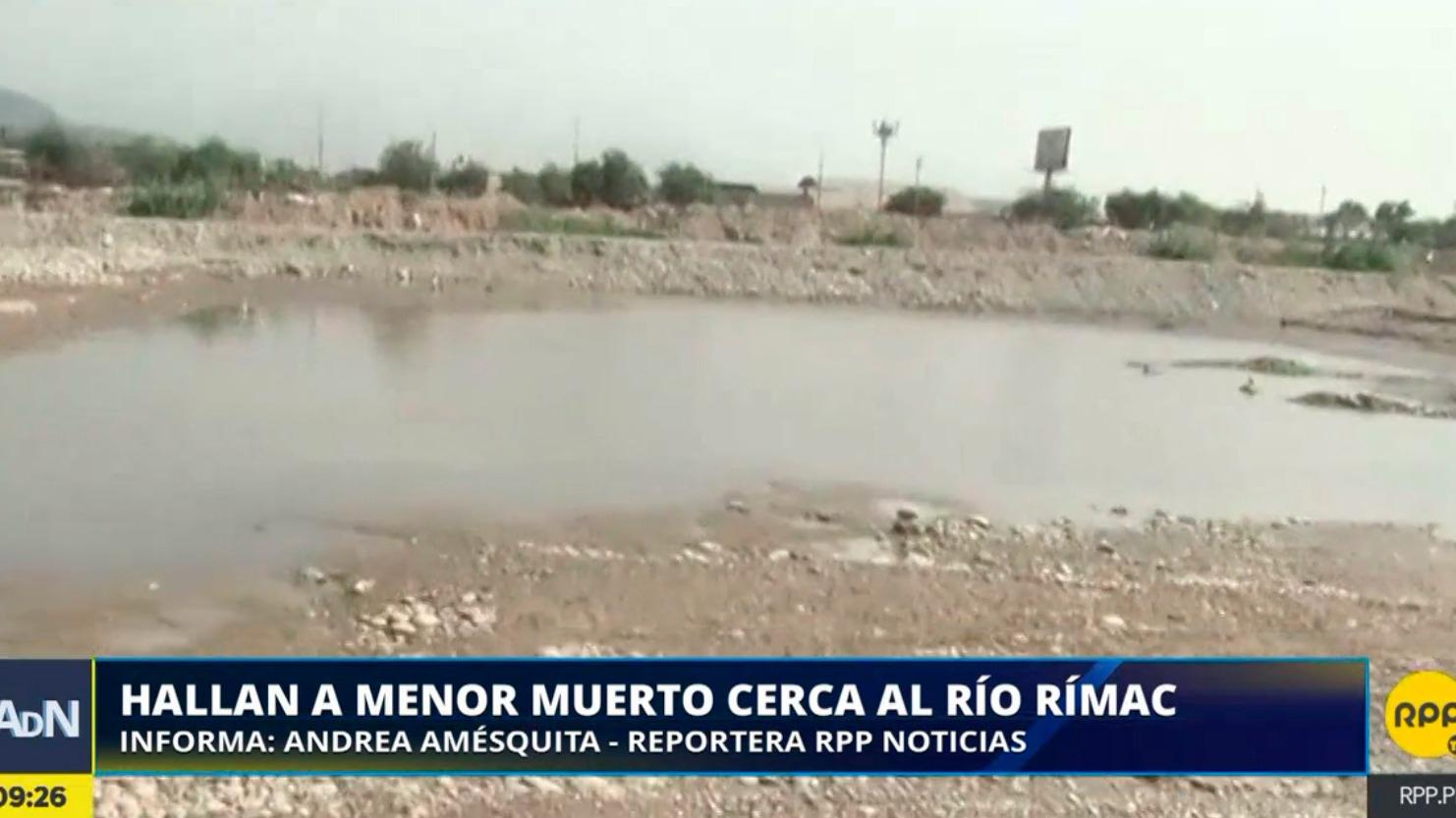 El menor fue encontrado en una laguna cerca al río Rímac en Ate.