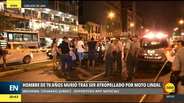 Dos carriles de la cuadra 3 de la avenida Tacna se cerraron para que se ejecute el levantamiento del cadáver.