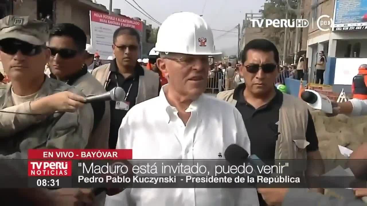 El presidente supervisó obras de agua potable y alcantarillado en San Juan de Lurigancho.