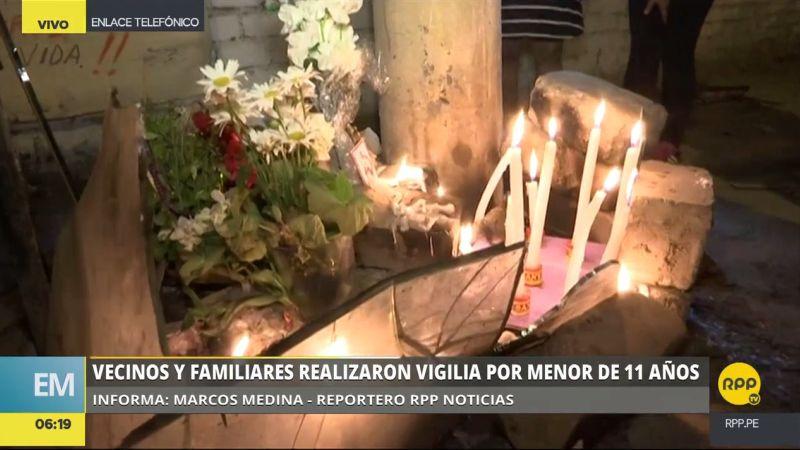 Los familiares y vecinos de la menor pidieron todo el peso de la justicia para el confeso violador y asesino.