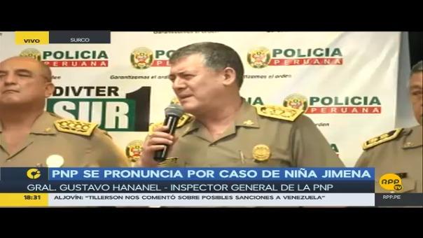 El inspector general de la Policía, Gustavo Hananel detallo las sanciones preliminares impuestas contras los efectivos de la comisaria Canto Rey, por la desaparición y muerta de la niña de 11 años.